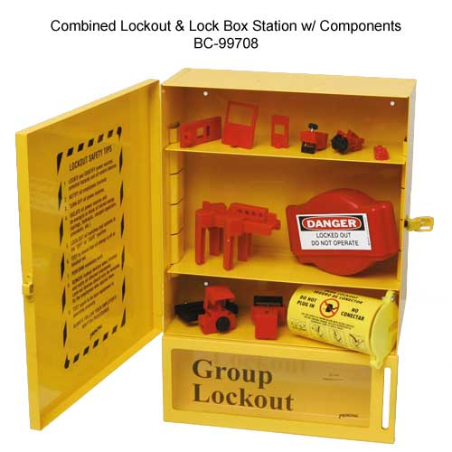 BRADY 99708 Combined Lockout and Lockbox Station with Components