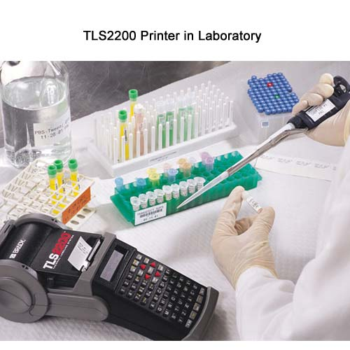 Brady TLS2200 Thermal Labeling system in use in laboratory - Icon