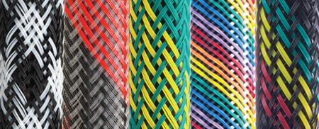 Braided multicolor cable sleeving