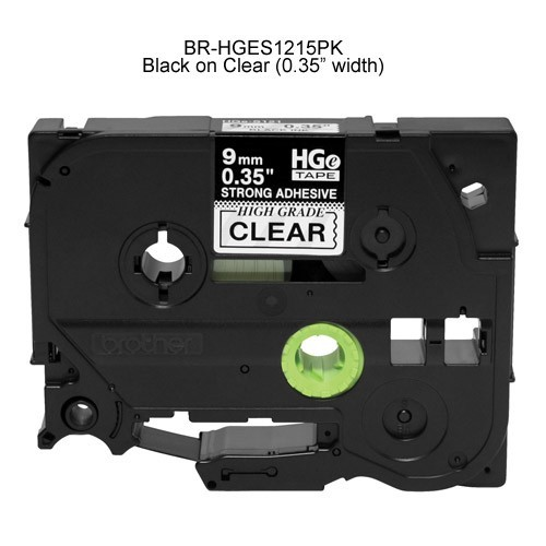 Brother HGe Laminated Tape Cartridge Black on Clear