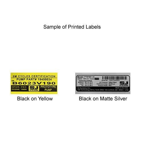 Brother HGe Laminated Tape Cartridge Printed Samples