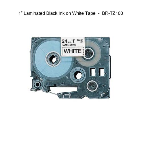 black on white tz label tapes - icon