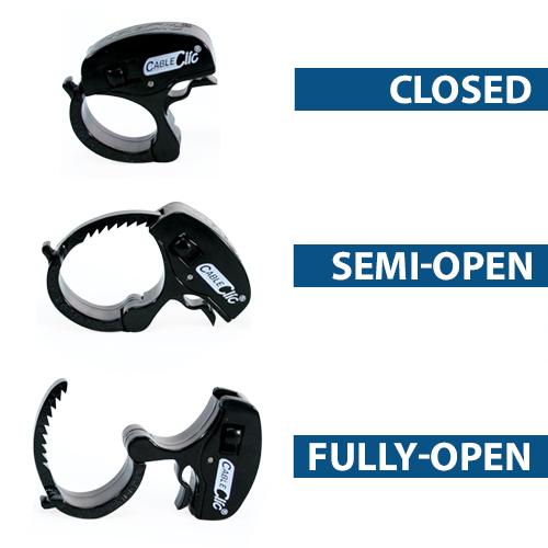Cable Click® Mini closed thru open - icon