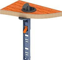 slide base unit through grommet in desk
