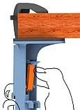 clamp base unit onto grommet