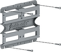 install screws through mounting plate