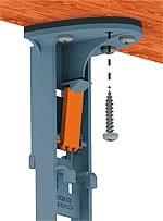 install screws through top of base unit