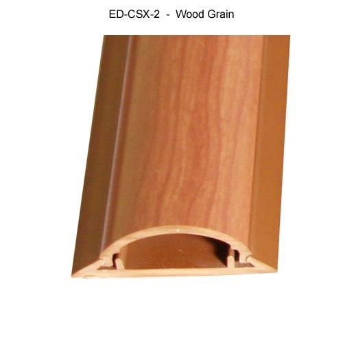Cable Shield Cord cover, CSX-2 in wood grain