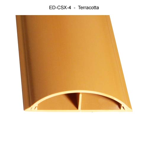 Cable Shield Cord cover, CSX-4 in terracotta