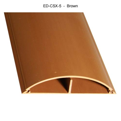 Cable Shield Cord cover, CSX-5 in brown