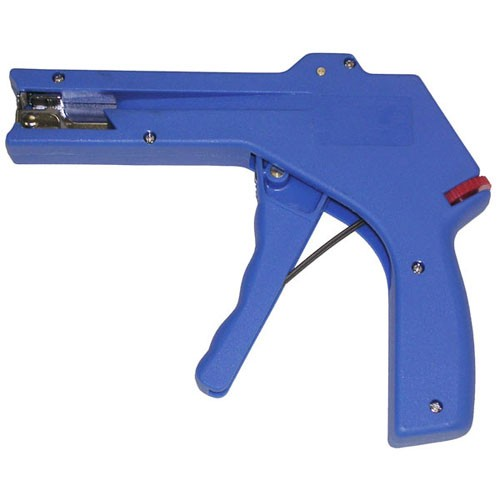 Economy Cable tie gun in blue, side view - icon