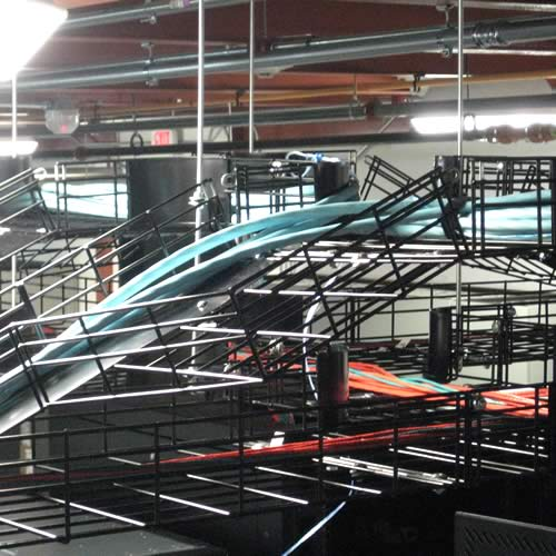Close view of CM20 cable tray system application in black - icon