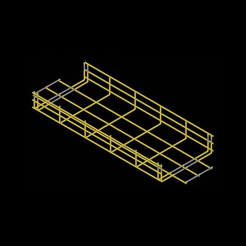 Drawing of CM25 cable tray one foot drop in yellow - icon