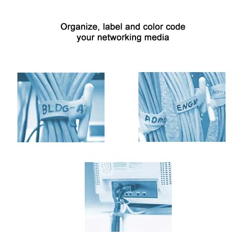 networking cables labeled with cable wrapz cable organizers- icon