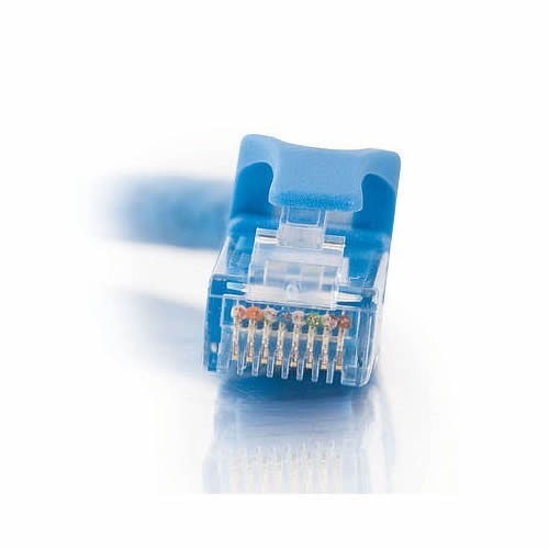 close up of cables to go cat6 snagless patch cable modular jack in blue - icon