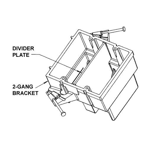 drawing of carlon resi-gard mounting bracket - icon