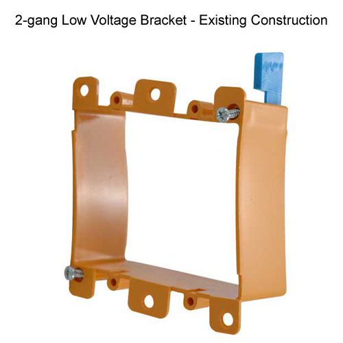 carlon resi-gard 2 gang low voltage mounting bracket for existing construction - icon