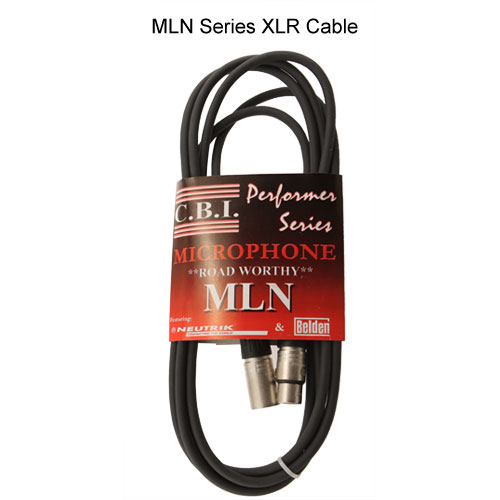 CBI XLR MLN series microphone cable in package - icon