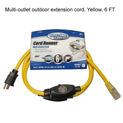 Outdoor extension cord 6ft - icon