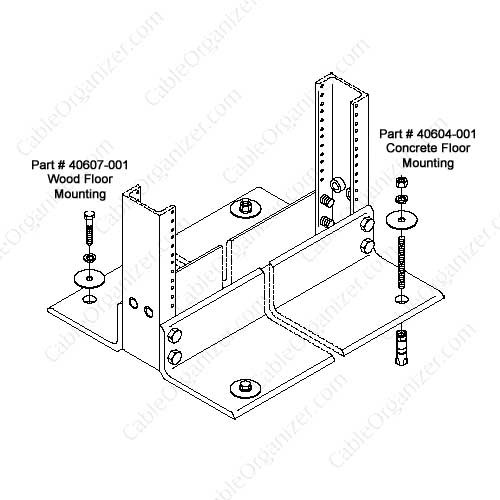 diagram of wood and concrete installation kits - icon