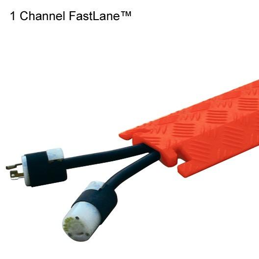 1 channel orange fastlane dropover cable protector in use - icon