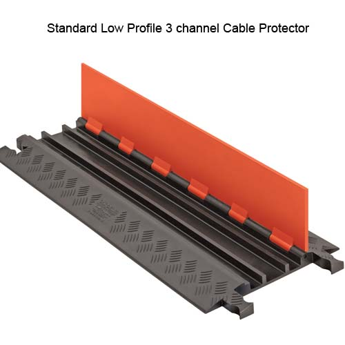 Guard Dog® 3 Channel Low Profile Standard and ADA Compliant Cable Protectors