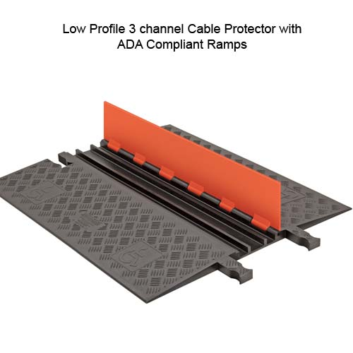 ada compliant guard dog 3 channel low profile cable protector with lid open - icon