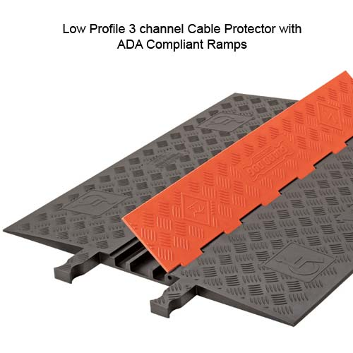 close up of ada compliant guard dog 3 channel low profile cable protector with lid open - icon