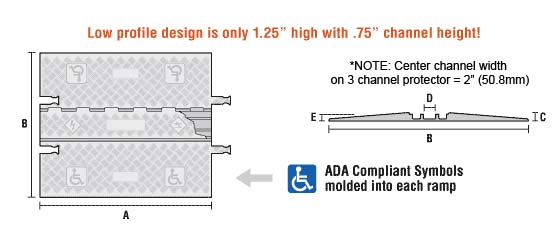 low profile ADA ramp graphic