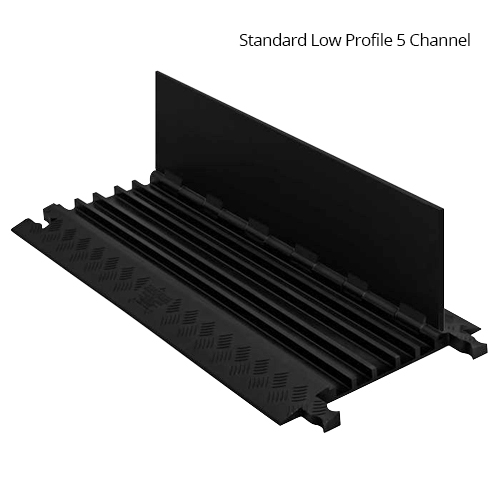 standard cable protector with 5 channels