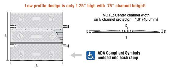 low profile ADA ramp graphic