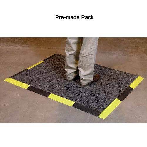 Industrial Grade Modular Floor Safety Mats Pre-made Packs - icon