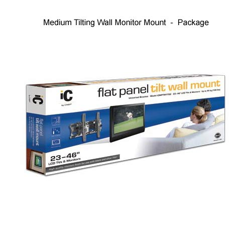 chief ic tilting screen wall mount, medium, in package icon