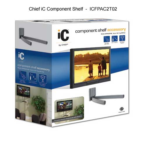 chief ic fixed monitor mount component shelf in package icon