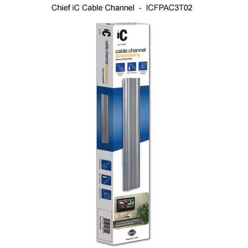 chief ic fixed monitor mount cable channel in package icon