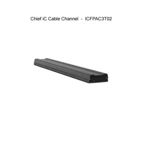 chief ic fixed monitor mount cable channel icon