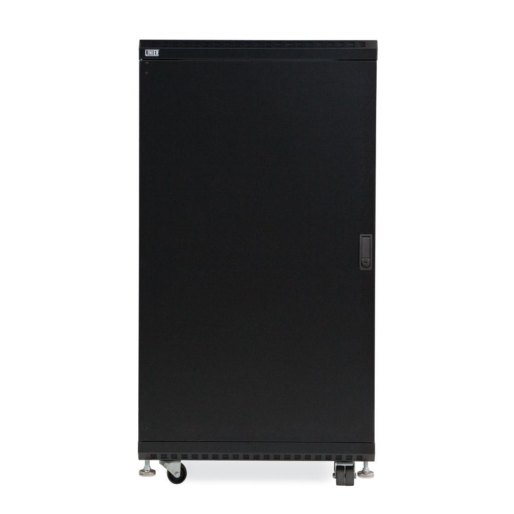 22U LINIER  Server Cabinet - Solid/Solid Doors - 24