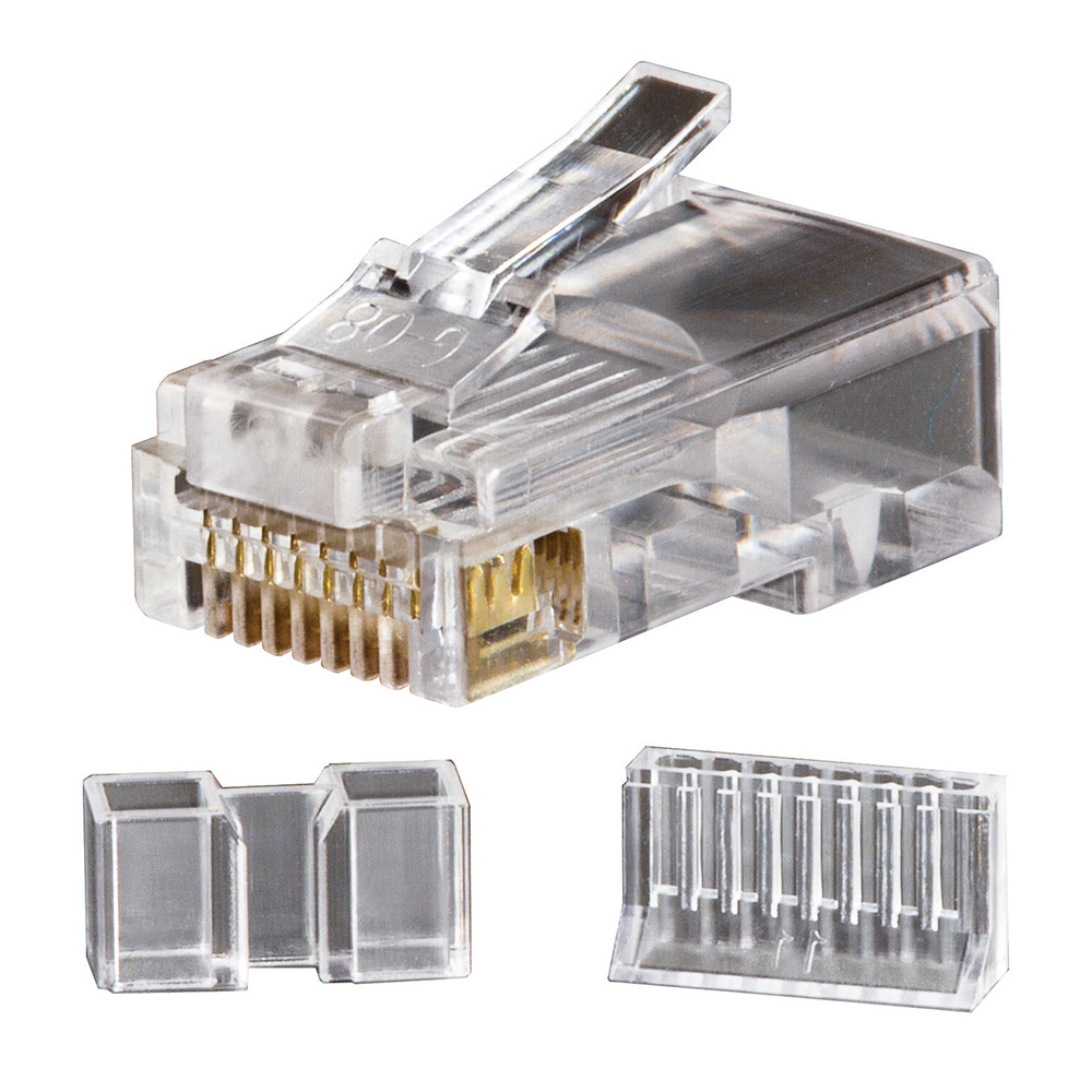 Modular Data Plugs RJ45 CAT6, 25-Pack