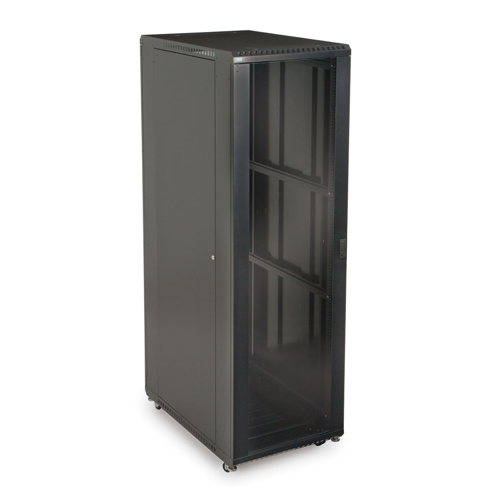 42U LINIER  Server Cabinet - Glass/Glass Doors - 36