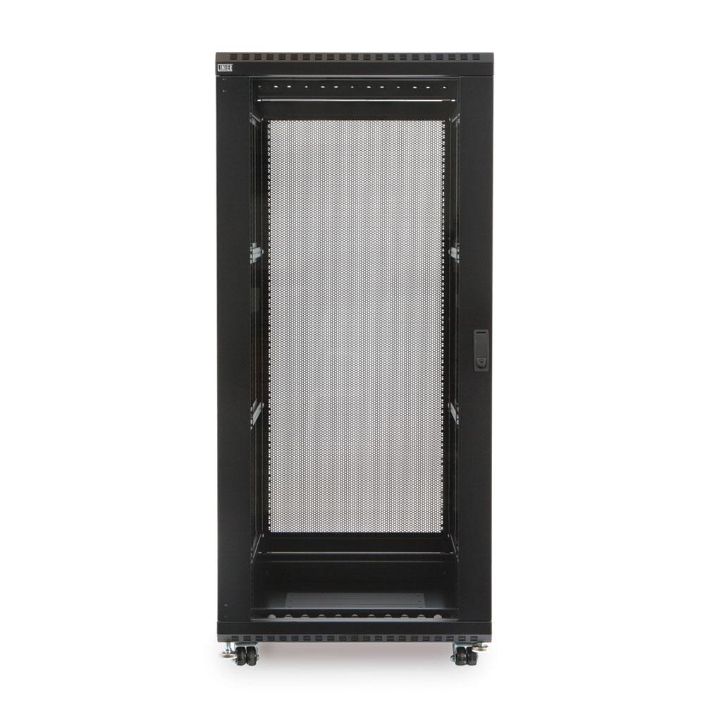 27U LINIER  Server Cabinet - Glass/Glass Doors - 24