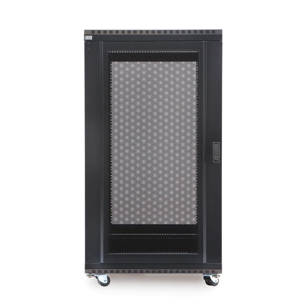 22U LINIER  Server Cabinet - Solid/Convex Doors - 24