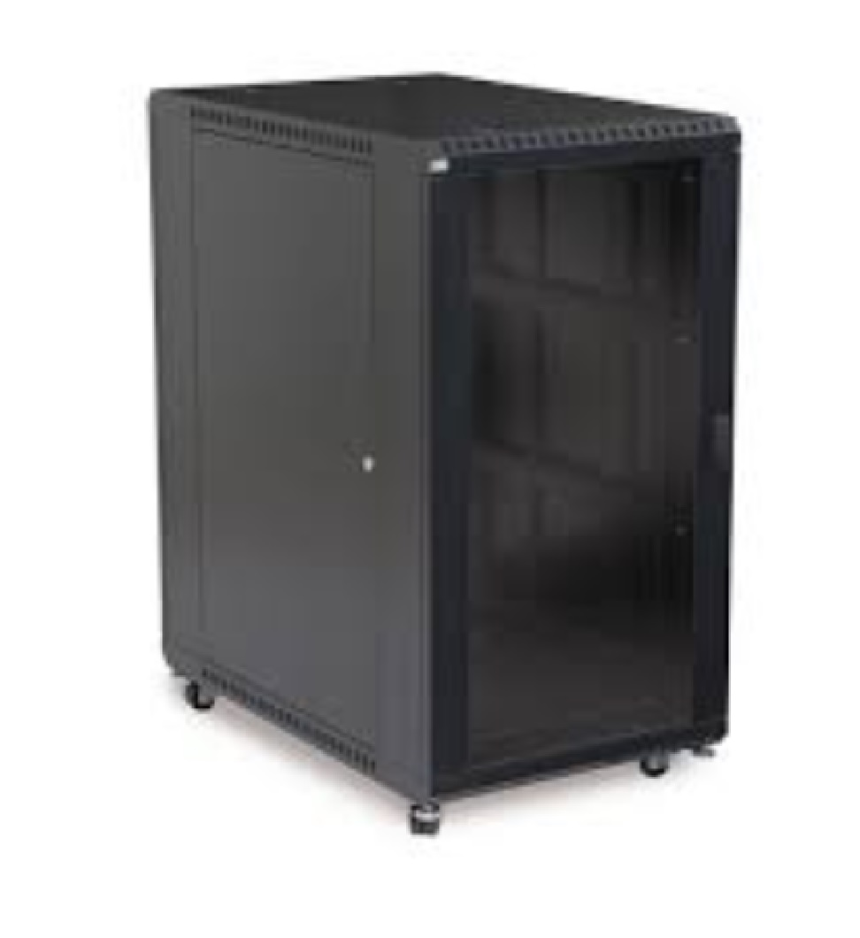 22U LINIER  Server Cabinet - Solid/Convex Doors - 36