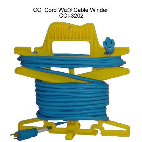 cci cord wiz cable winder in use icon