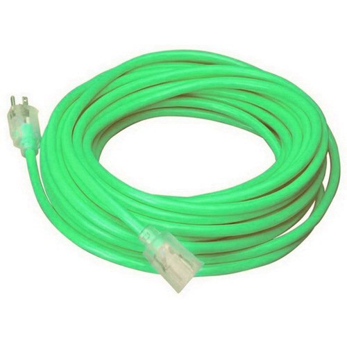 coleman cable cool colors outdoor extension cord in neon red - icon