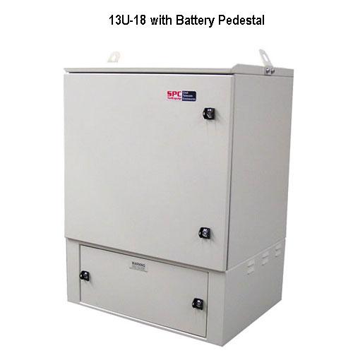 model 13-18u outdoor enclosure with battery pedestal icon