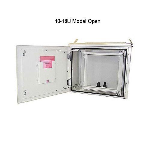 model 10-18u outdoor enclosure, opened icon