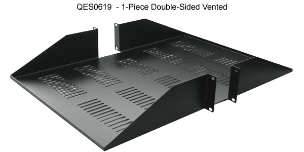 quest one piece double sided vented rack shelf icon