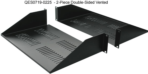 quest two piece double sided vented rack shelf icon