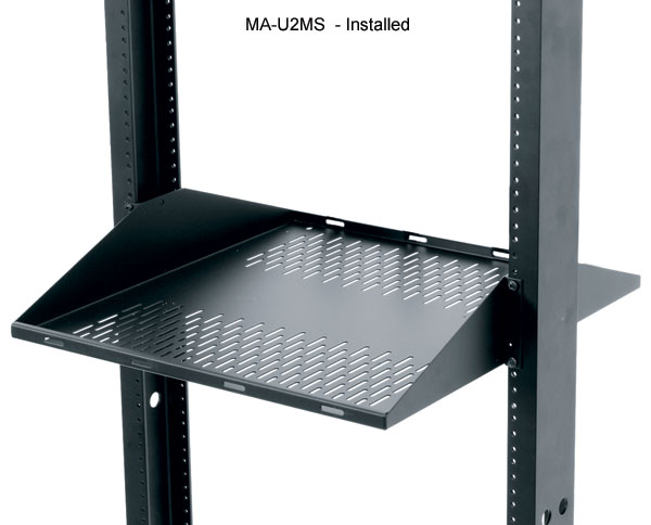middle atlantic double sided vented rack shelf in use icon