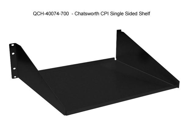 chatsworth cpi single sided non vented rack shelf icon